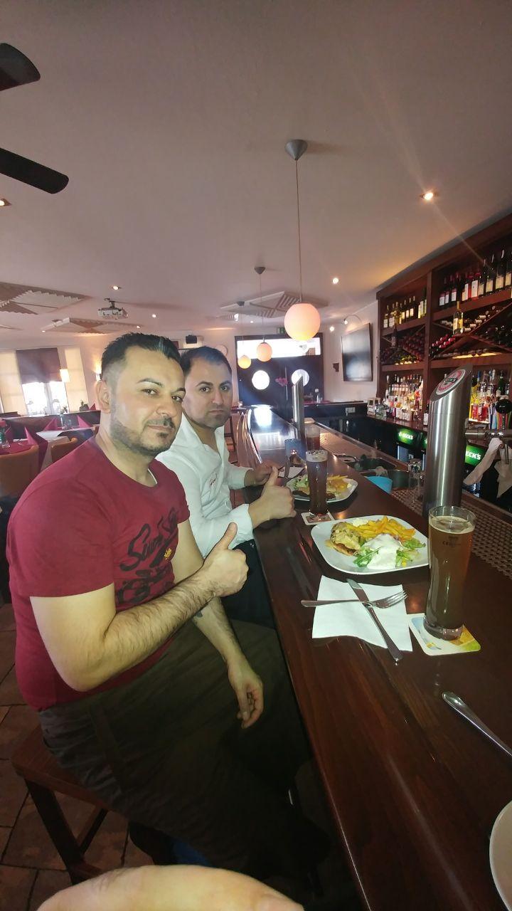 Die Mitarbeiter von Milano in der Mittagspause