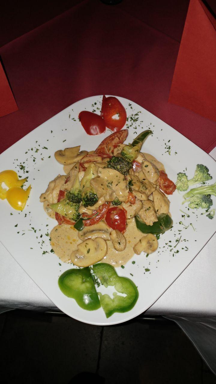 Hähnchenburst mit Gemüse